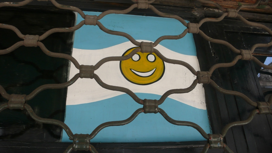 Home-made smiley face Flag