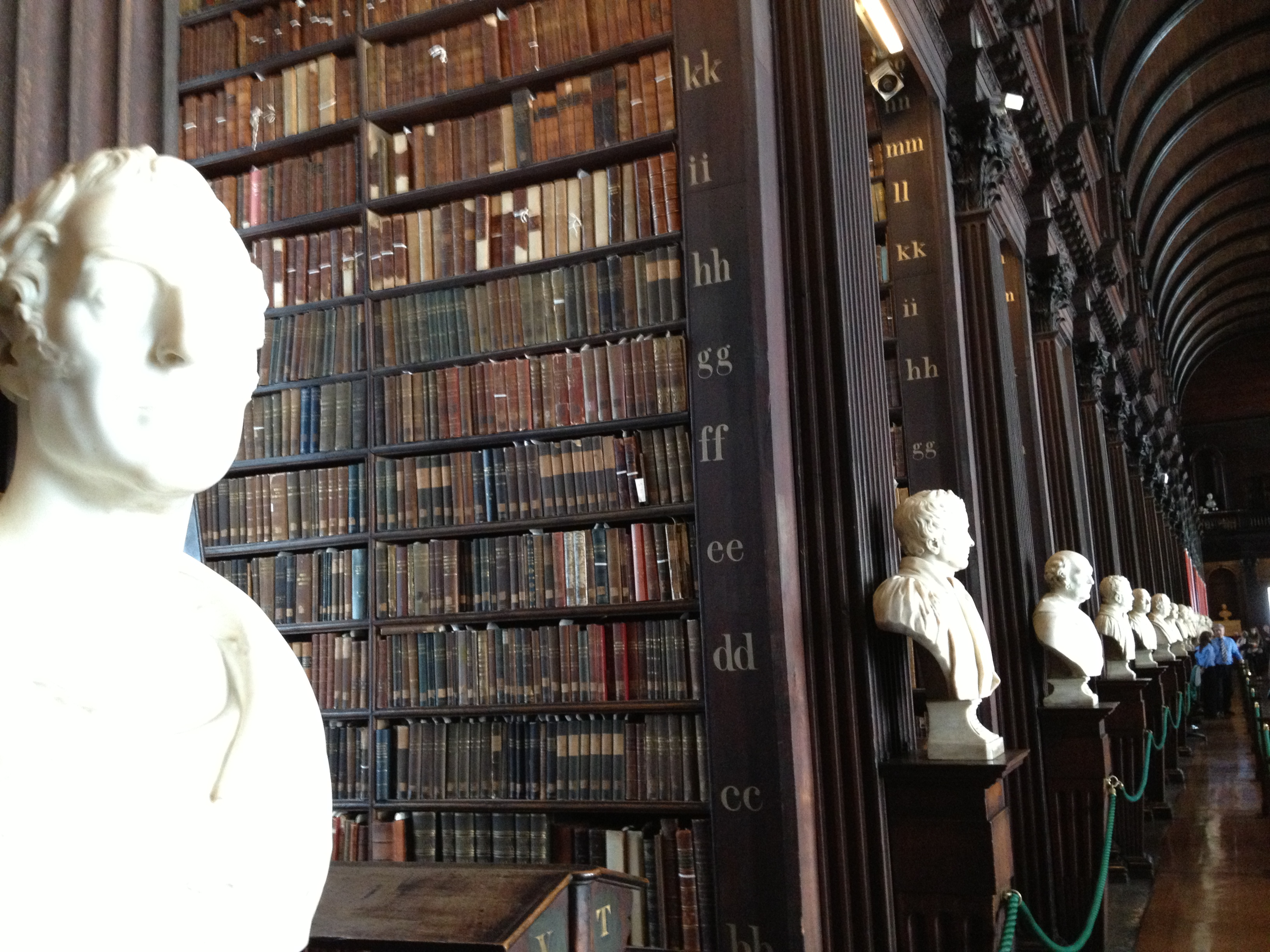 The Pantheon in the Library- the Sculpture Busts of Long Room