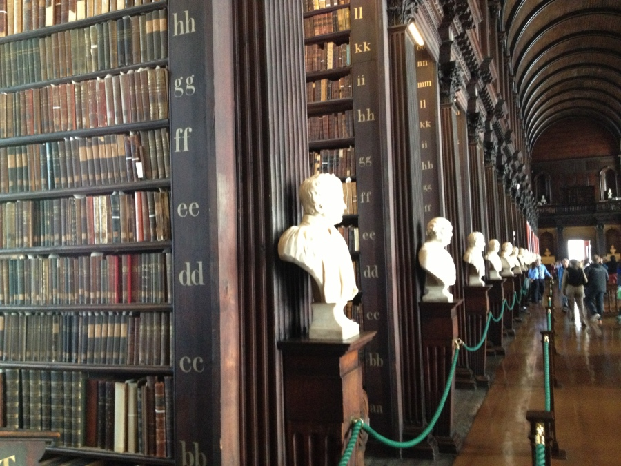Sculpture Busts of Long Room Trinity College, Dublin, cpywriteArran Henderson