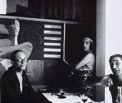 Eileen Gray with Baldovici and Le Corbusier-1