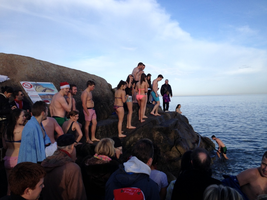 Swimming queue Fortyfoot 1 -Wideshot Arran Henderson, Dublin Decoded