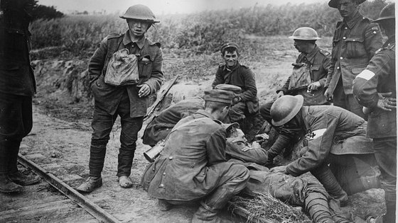 Injured solidier WWI