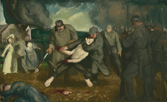 the-germans-arrive-by-george-bellows-1918