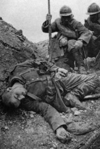 Young dead german soldier