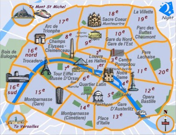 cartography Image and iconography from the City of Lights Paris by – Map Of Central Paris Tourist
