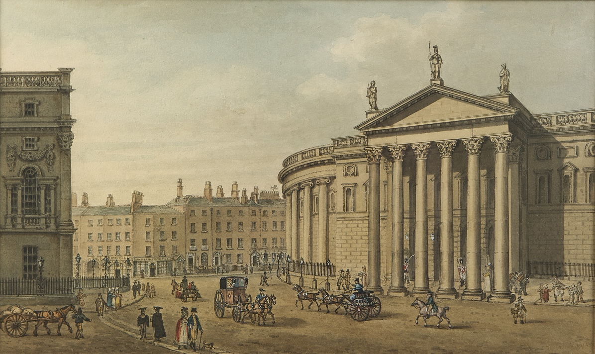 th century n dublin architecture tours now available for samuel brocus view of college green