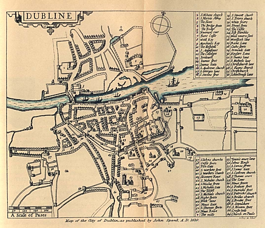 Maps Of Dublin, Old Speed's Map Reveals History Of Dublin