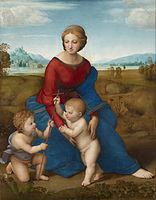 156px-Madonna of the Meadow Raphael