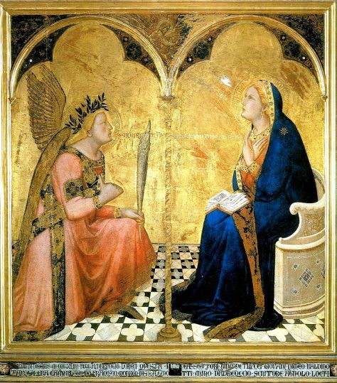 Ambrogio Lorenzetti Annunciation _1344 ! .