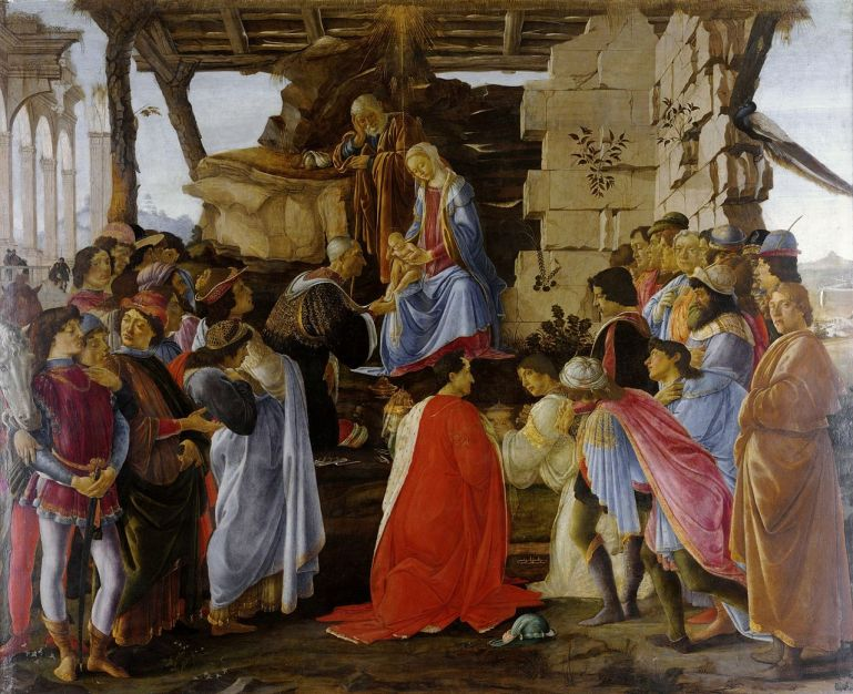 Botticelli_-Adoration_of the Magi (Zanobi_Altar)_-Uffizi