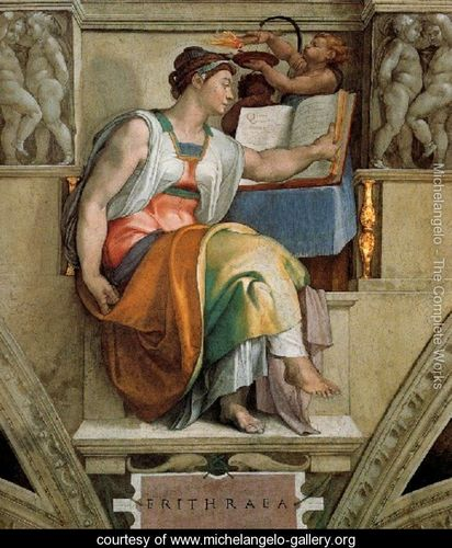 Ceiling-Of-The-Sistine-Chapel--Sybils--Erithraea