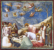 Giotto Scrovegni Chapel Lamentation_(The_Mourning_of_Christ)_adj