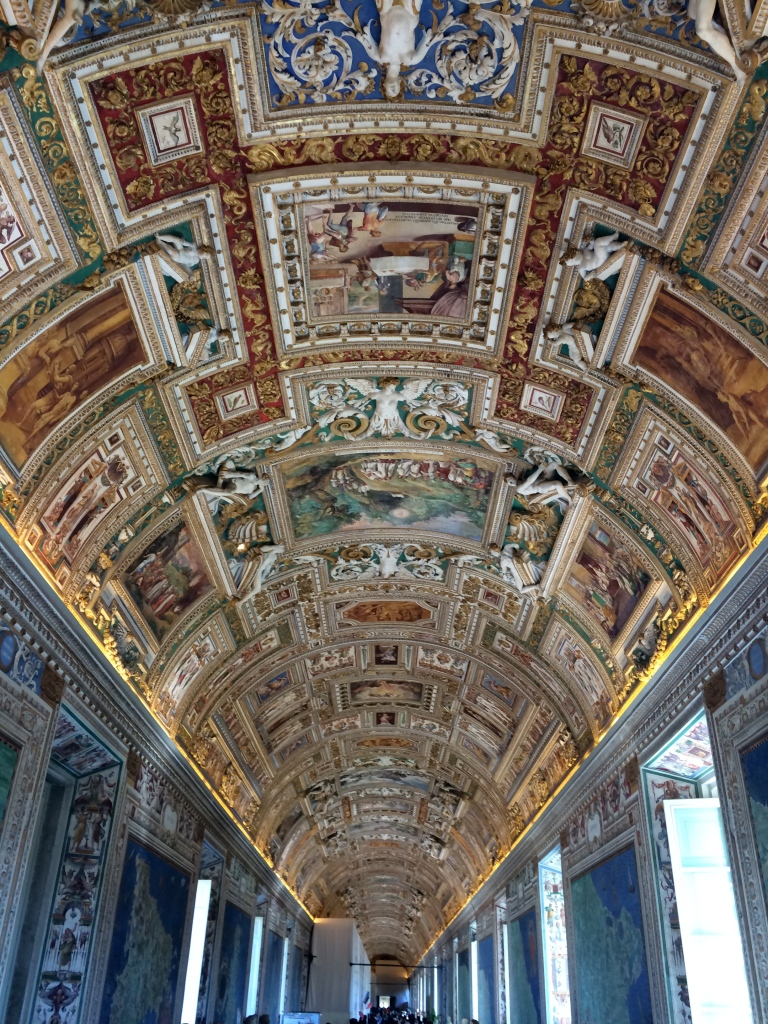 Ceiling Vatican Rome Map