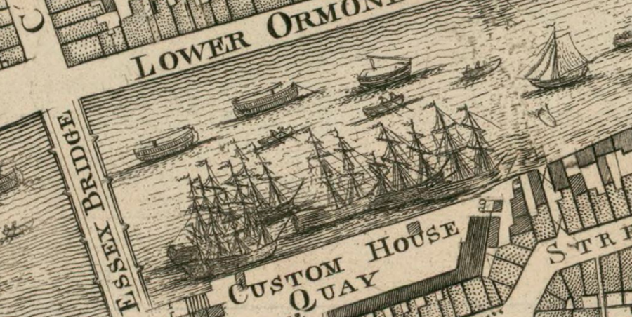 SHIPS AT OLD CUSTOMS HOUSE