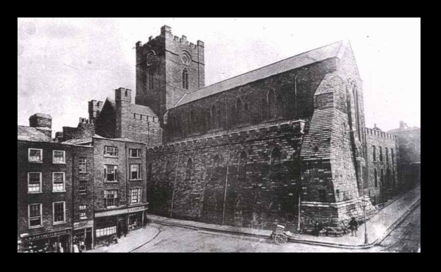 Christ Church pre 1878 Restoration and Wine Tavern St