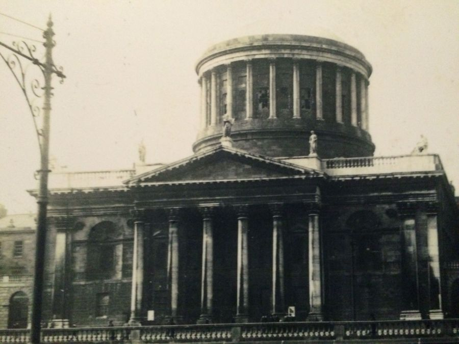 Four Courts from Proclaiming a Republic, National Museum exhibition