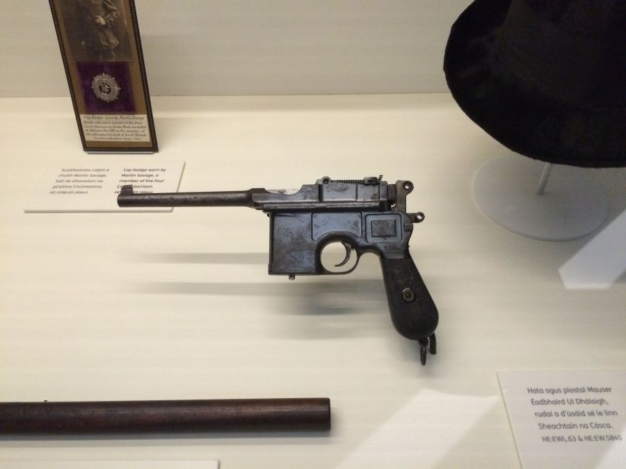 Mausser Pistol Proclaiming a Republic, National Museum exhibition