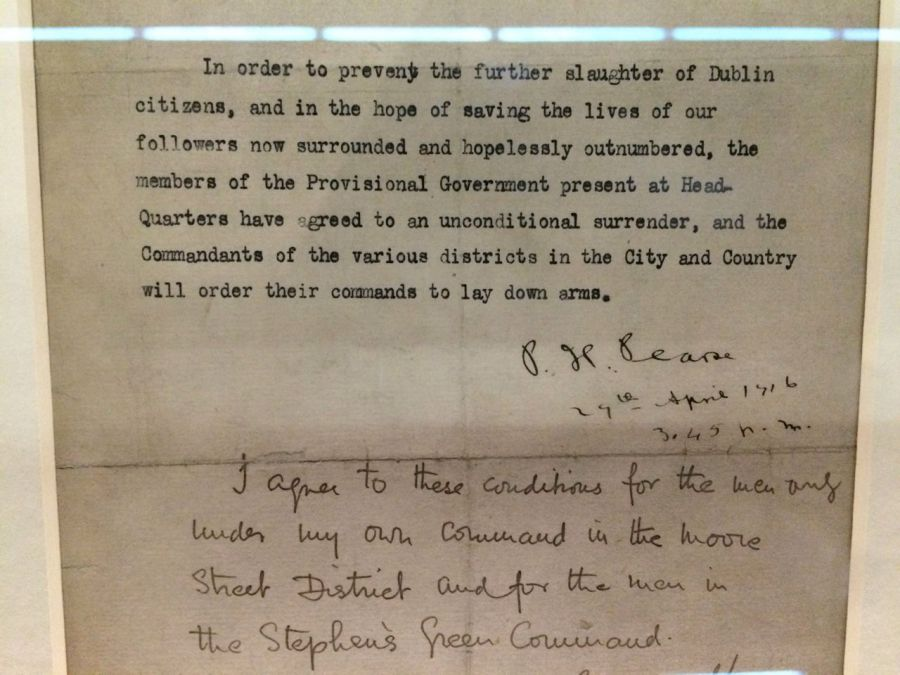 Suurrender Note Proclaiming a Republic, National Museum exhibition