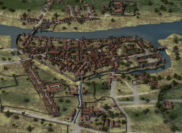 medieval Dublin, courtesy of artist Iain Barber
