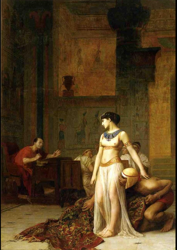 cleopatra-and-caesar-1866-painting-by-jean-leon-gero%cc%82me