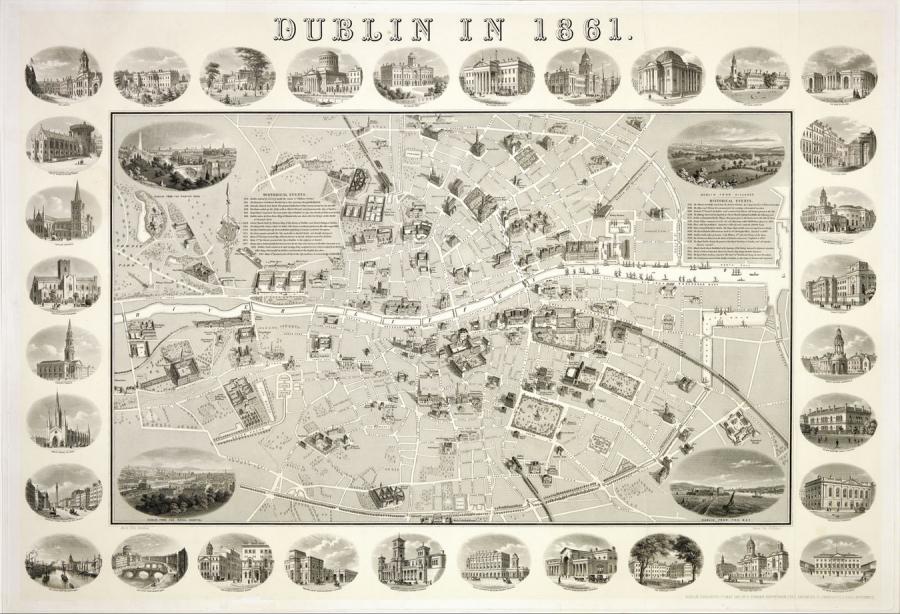 Daniel Edward Heffernan_s Map of Dublin, 1861 All