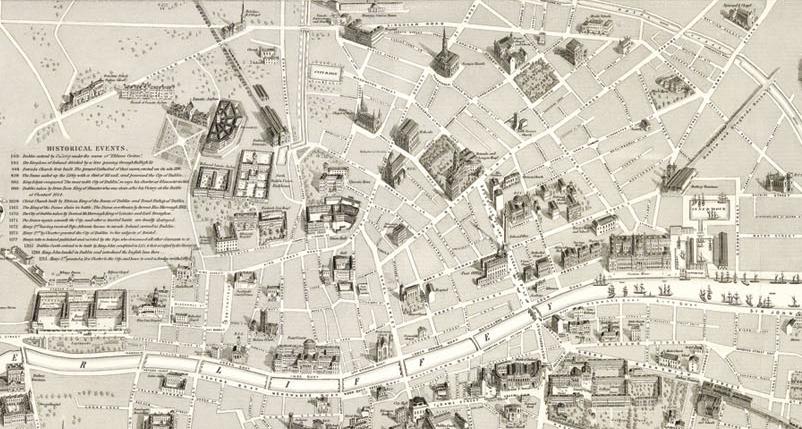Daniel Edward Heffernan_s Map of Dublin, 1861 Detail, north of river