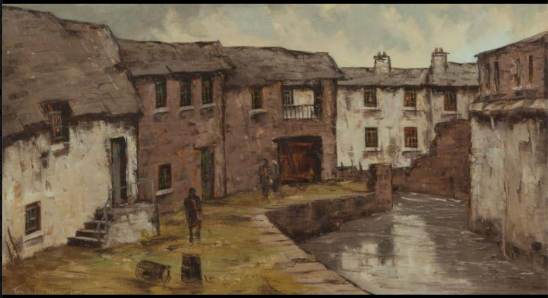 On The Poddle River by Tom Cullen (1934-2001 Painting dated 1981
