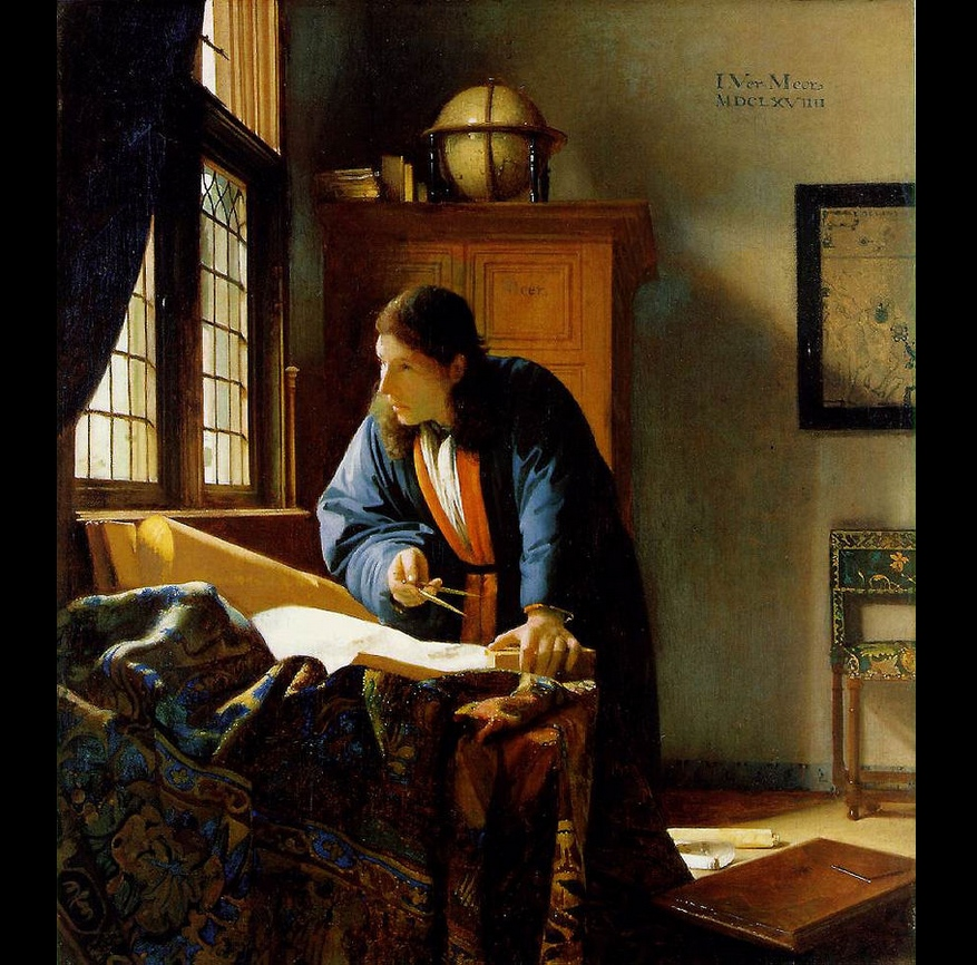 The Geographer, Vermeer 1669