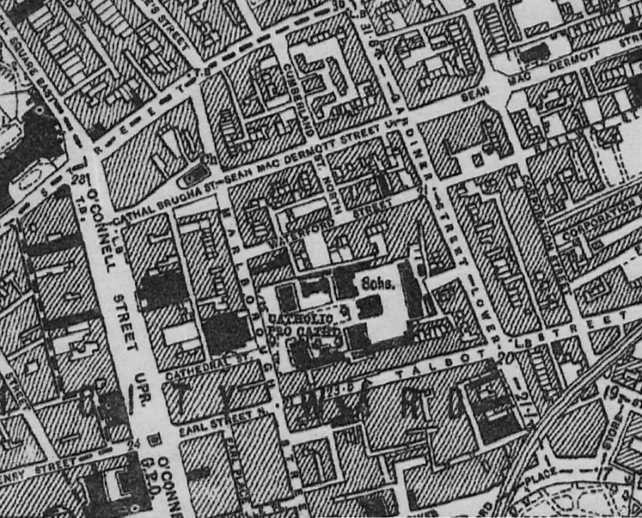 1938 OS Map O'Connell St Gardiner and Malborough St