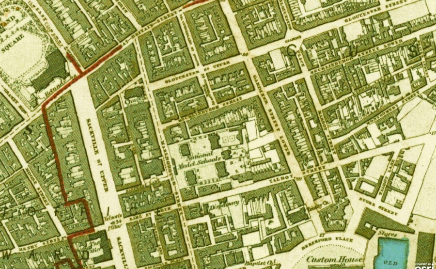 North Inner City OS 1843 1st Edition 6 inch