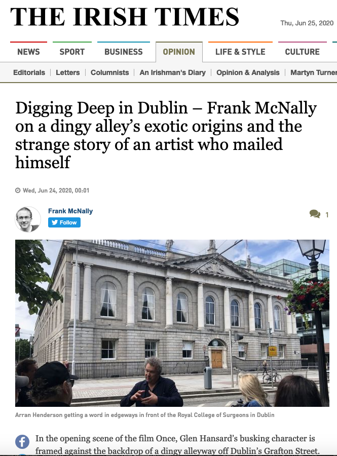 Top section and banner only from Irish Times piece Wed 24 Thurs 24 JUne 2020